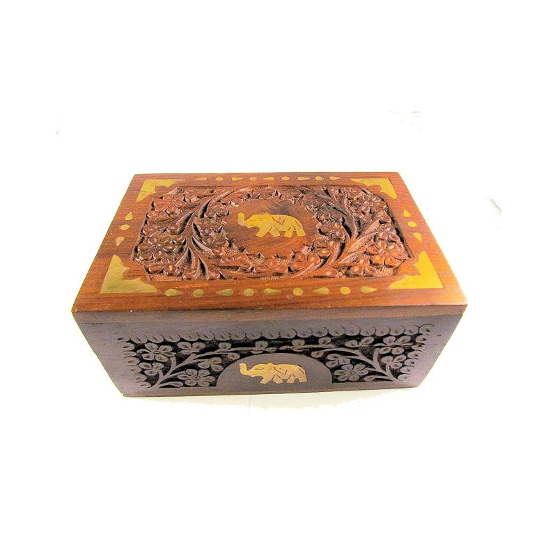 Hand Carved Jewellery Box