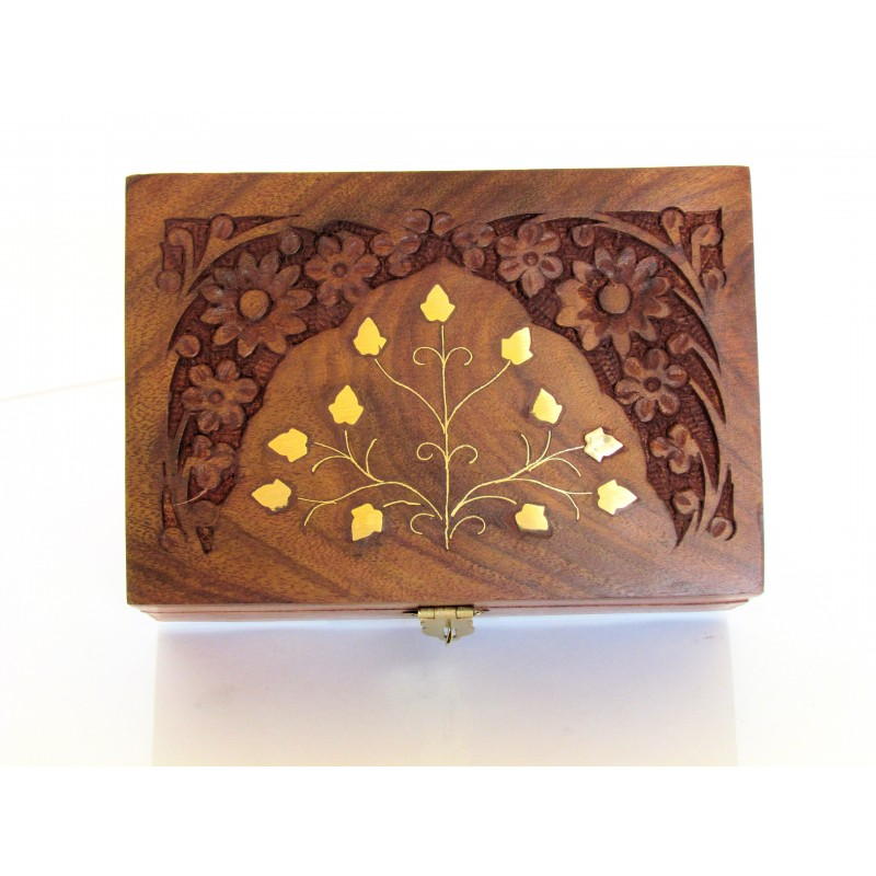 Hand Carved Jewellery Box