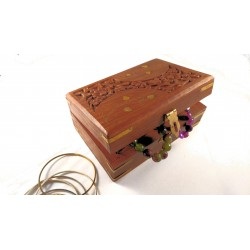 Wooden Marquetry Box With...