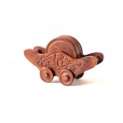 Exotic Wooden Coaster set