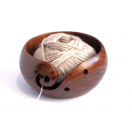 "Wooden Yarn Bowl - 6"" X 3"""