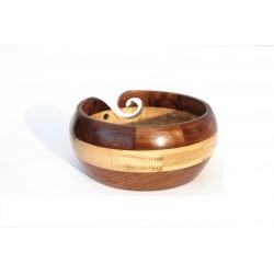 "Wooden Yarn Bowl - 7"" X 3"""