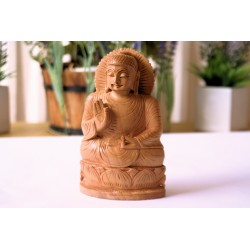 Wooden Buddha Sculpture