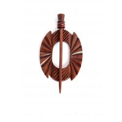 Wooden Shawl Pin - HSPA-23