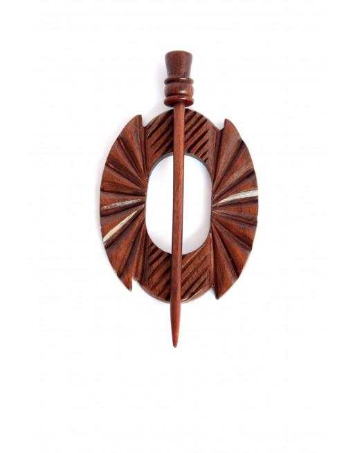 Wooden Shawl Pin - HSPA-23