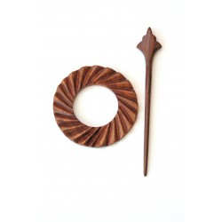 Wooden Shawl Pin - HSPA-24