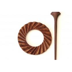 Wooden Shawl Pin - HSPA-24
