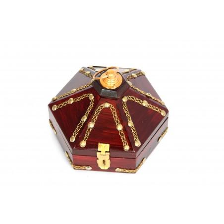 Hexagonal Wooden Jewellery Box