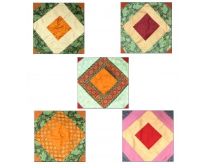 Patchwork Cushion Covers -...
