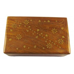 Hand Carved Jewellery Box -...
