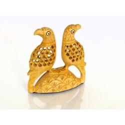 Wooden Parrot Love birds