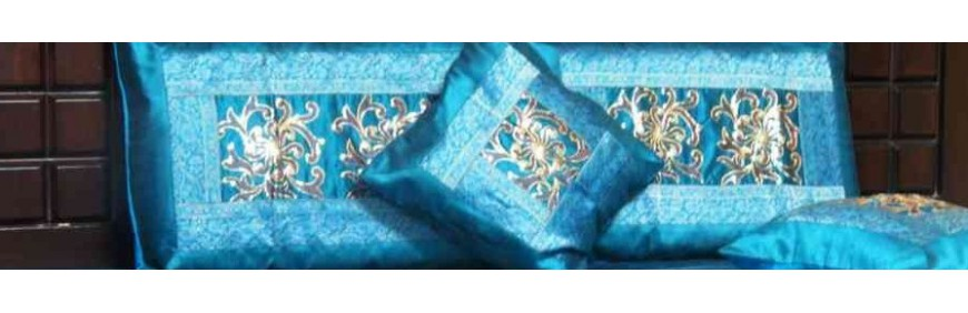 Range of hand made ethnic cotton and silk cushion covers
